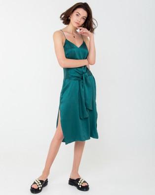 Carver – Elle Midi Dress Green