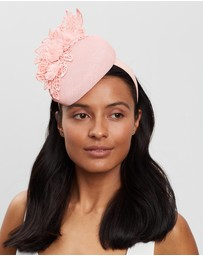 Fillies Collection - Pillbox Fascinator with Lace Trim