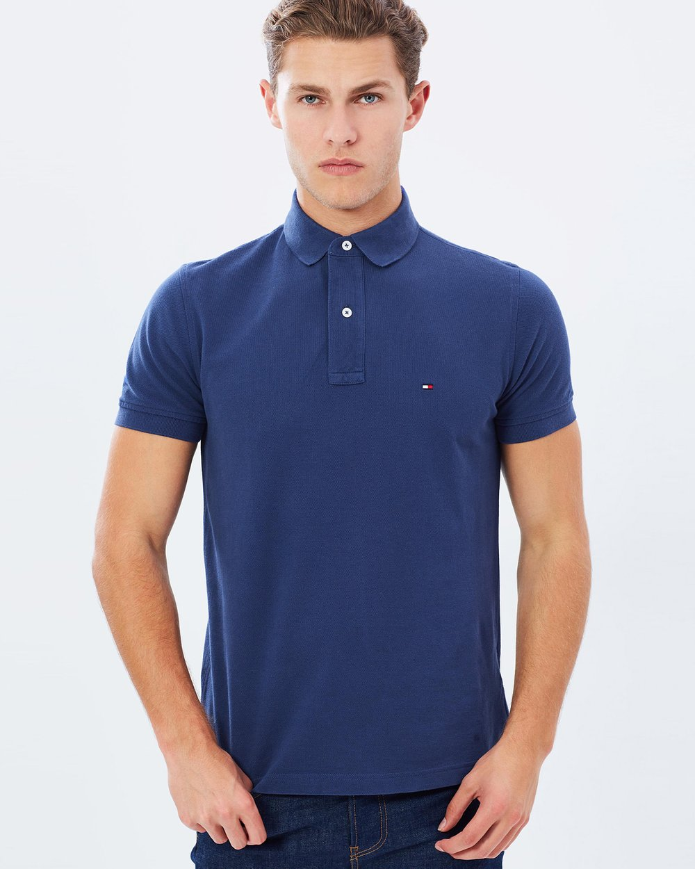 422a6a3938eee9 Tommy Knit SS Polo by Tommy Hilfiger Online