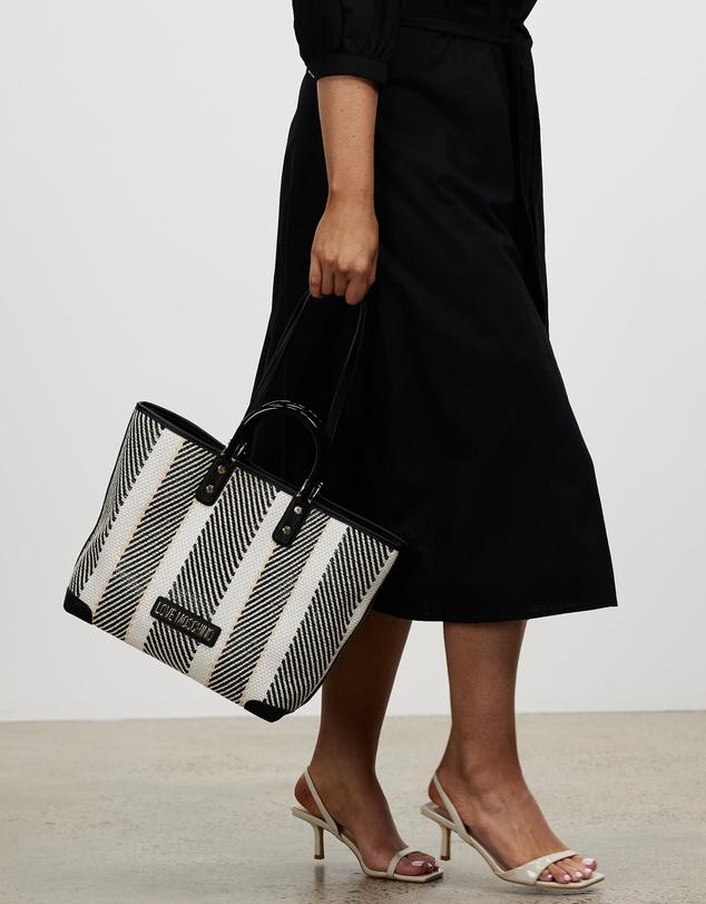 Women Borsa Woven PU Tote Bag