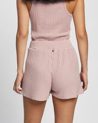 Rusty Simmer Shorts - High-Waisted (Misty Rose)