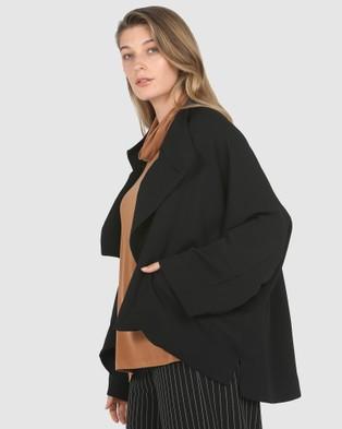 Faye Black Label Batwing Sleeve Crop Jacket - Coats & Jackets (Black)