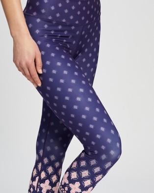 Dharma Bums Recycled High Waist Printed 7 8 Leggings - 7/8 Tights (Ritmo)