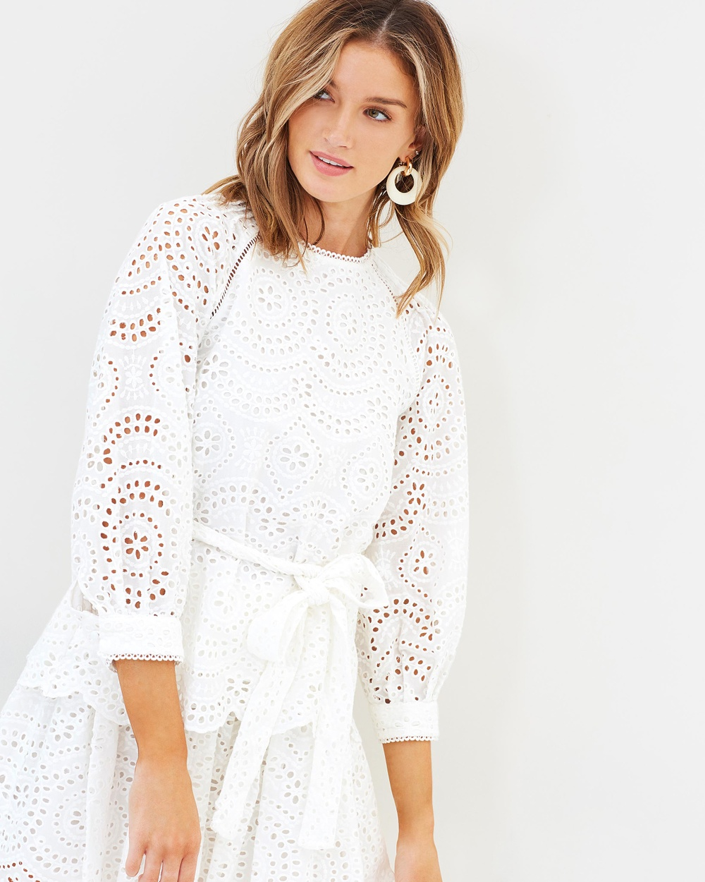 Ministry of Style Western Prairie Embroidery Blouse Tops Ivory Western Prairie Embroidery Blouse