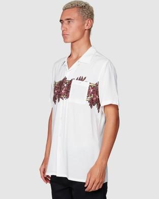 Billabong Stubbies Floral Short Sleeve Shirt - Shirts & Polos (IVORY)