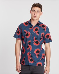 PS by Paul Smith - Sunflower Short Sleeve Casual Shirt