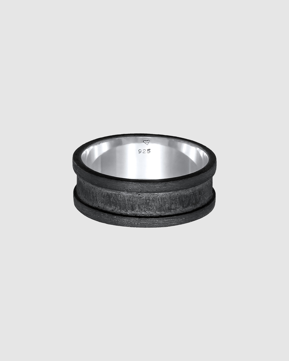 Kuzzoi Ring Bandring Wide Oxidized Casual in 925 Sterling Silver Jewellery Silver