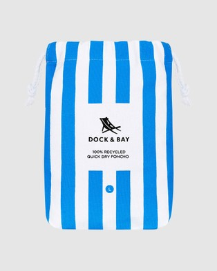 Dock & Bay Large Poncho Adult 100% Recycled Cabana Collection - Pool Towels (Blue)
