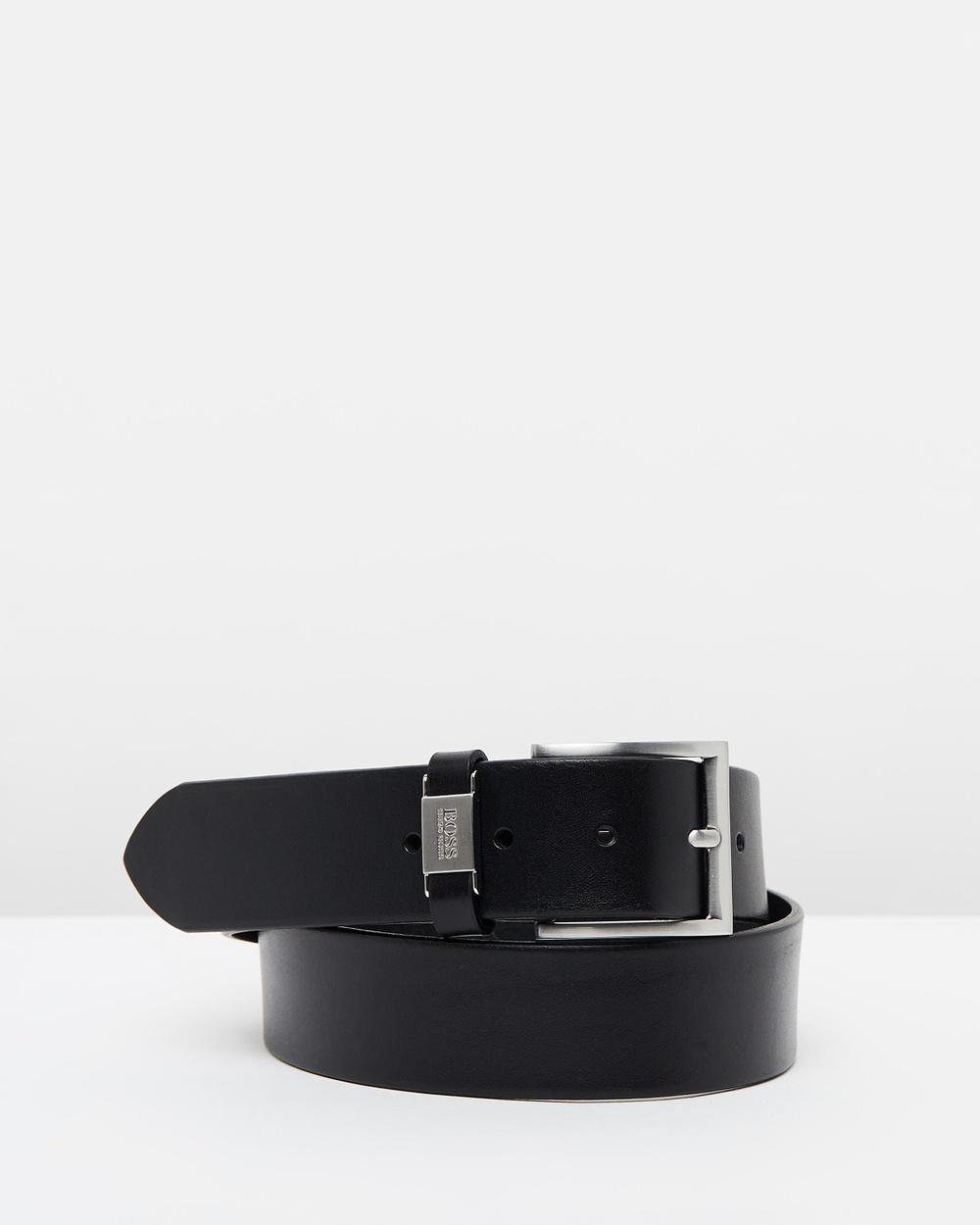 BOSS Connio Leather Belt Belts Black