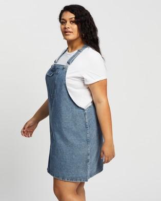 Cotton On Curve Curve Utility Denim Pinafore - Dresses (Cabarita Blue)