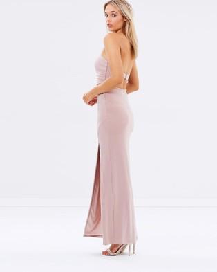 SKIVA Strapless Evening Dress with Split - Dresses (Nude)