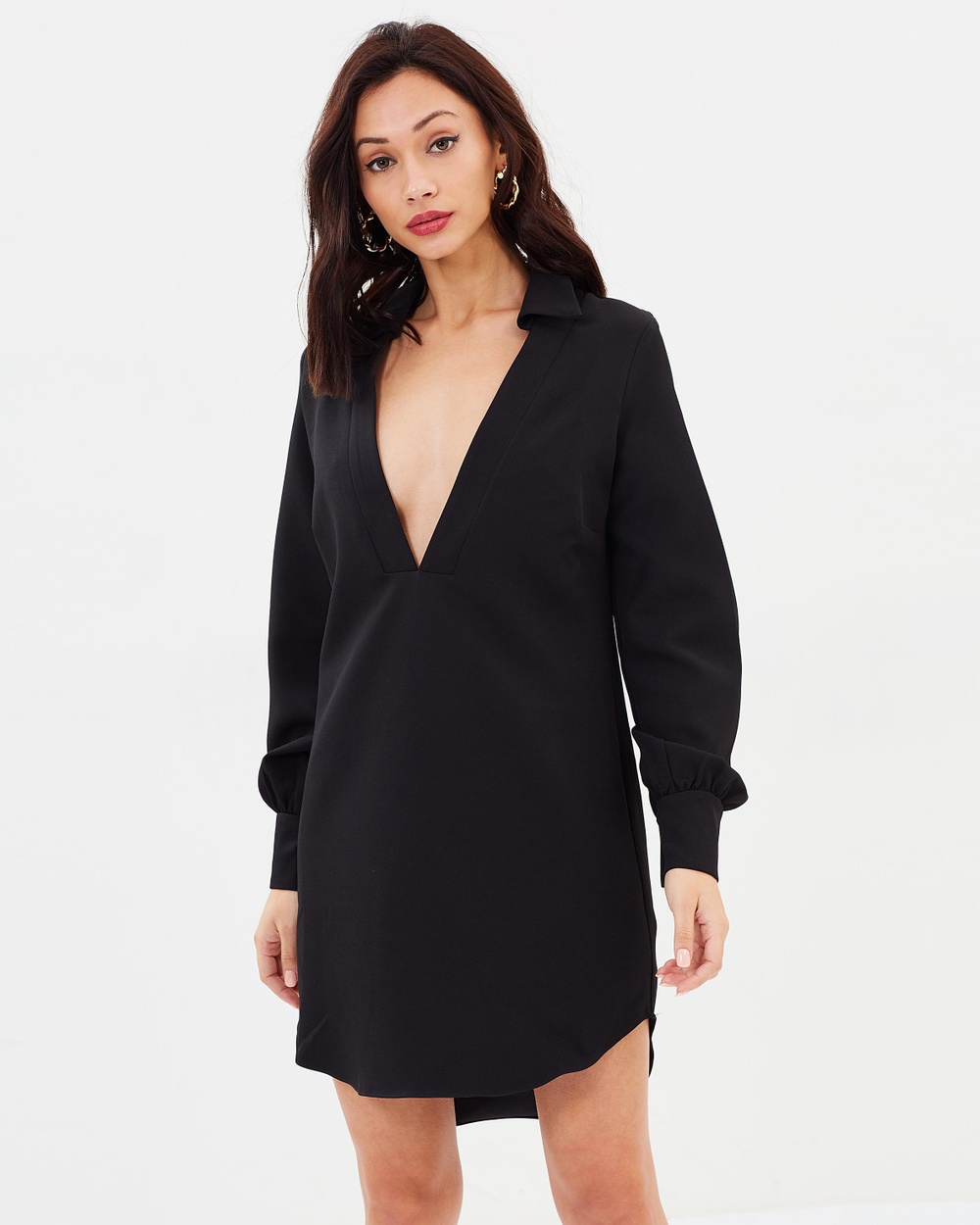Missguided Peace + Love Loose Fit Dress Dresses Black Peace + Love Loose Fit Dress