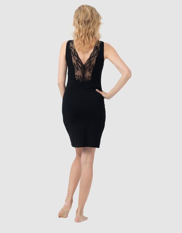 Women Lace V-Back Nightdress