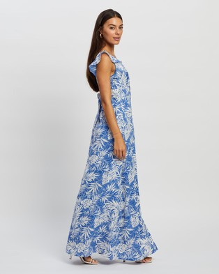 Miss Holly Amaya Dress Printed Dresses Blue