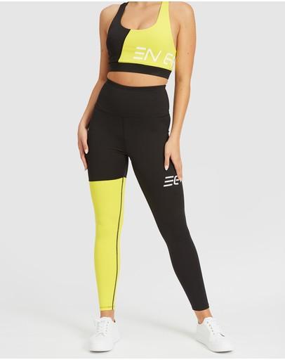 En Garde Apparel Black & Yellow Leggings