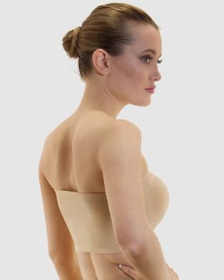 B Free Intimate Apparel Strapless Bandeau Bra - Strapless Bras (Nude)