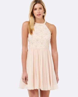 Forever New – Kiki Beaded Bodice Dress Pink