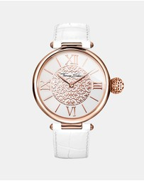 THOMAS SABO - Karma Rose White Leather Watch