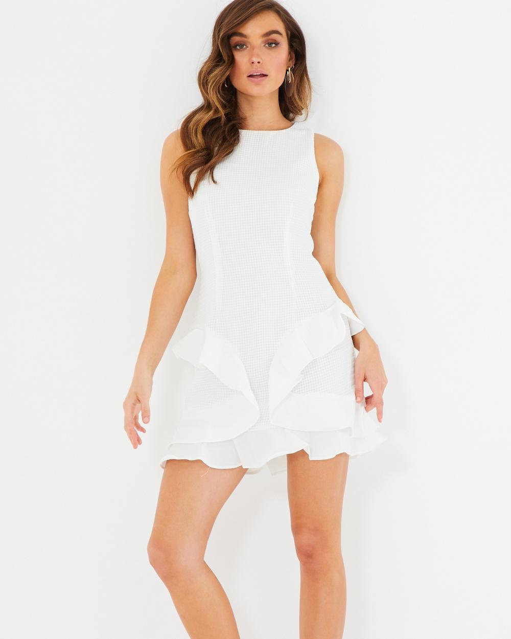 Tussah Yasmina Frill Detail Mini Dress Dresses White Yasmina Frill Detail Mini Dress