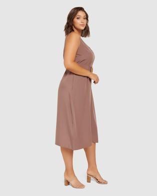 Forever New Curve Remi Curve Raffia Buckle Dress - Dresses (Dark Dove)