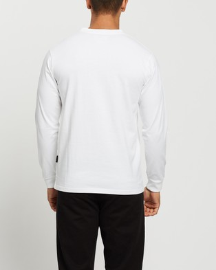 Mr Simple - Heavy Weight Long Sleeve Tee - T-Shirts & Singlets (White) Heavy Weight Long Sleeve Tee