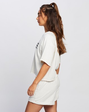 P.E Nation Track Run Tee - T-Shirts & Singlets (Light Grey)