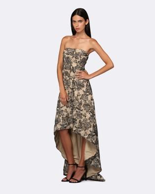 ROXCIIS – Tasia Hi Lo Dress – Bridesmaid Dresses (Black & Nude)