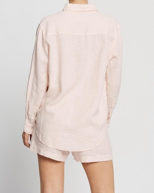 Assembly Label Xander Long Sleeve Shirt - Tops (Coral)