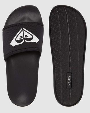 Roxy Womens Slippy Neo Slides - Slides (Black)