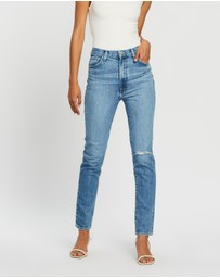 J Brand - Runway High-Rise Slim Straight Jeans