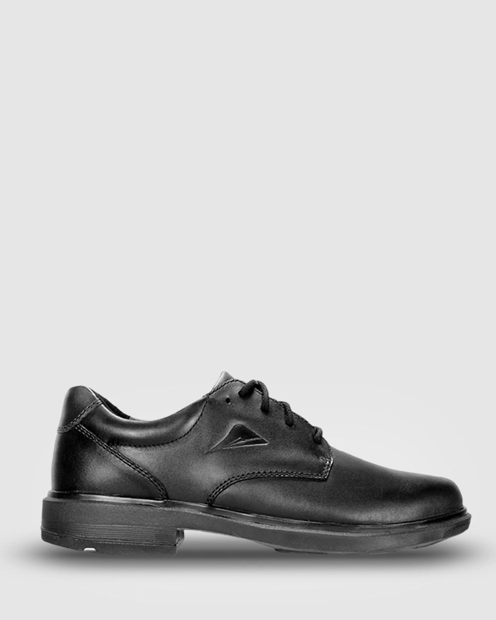 Ascent Apex Max 3 C Width School Shoes Black Australia
