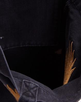 Thrills Landing Eagle Denim Tote - Bags (Faded Black)
