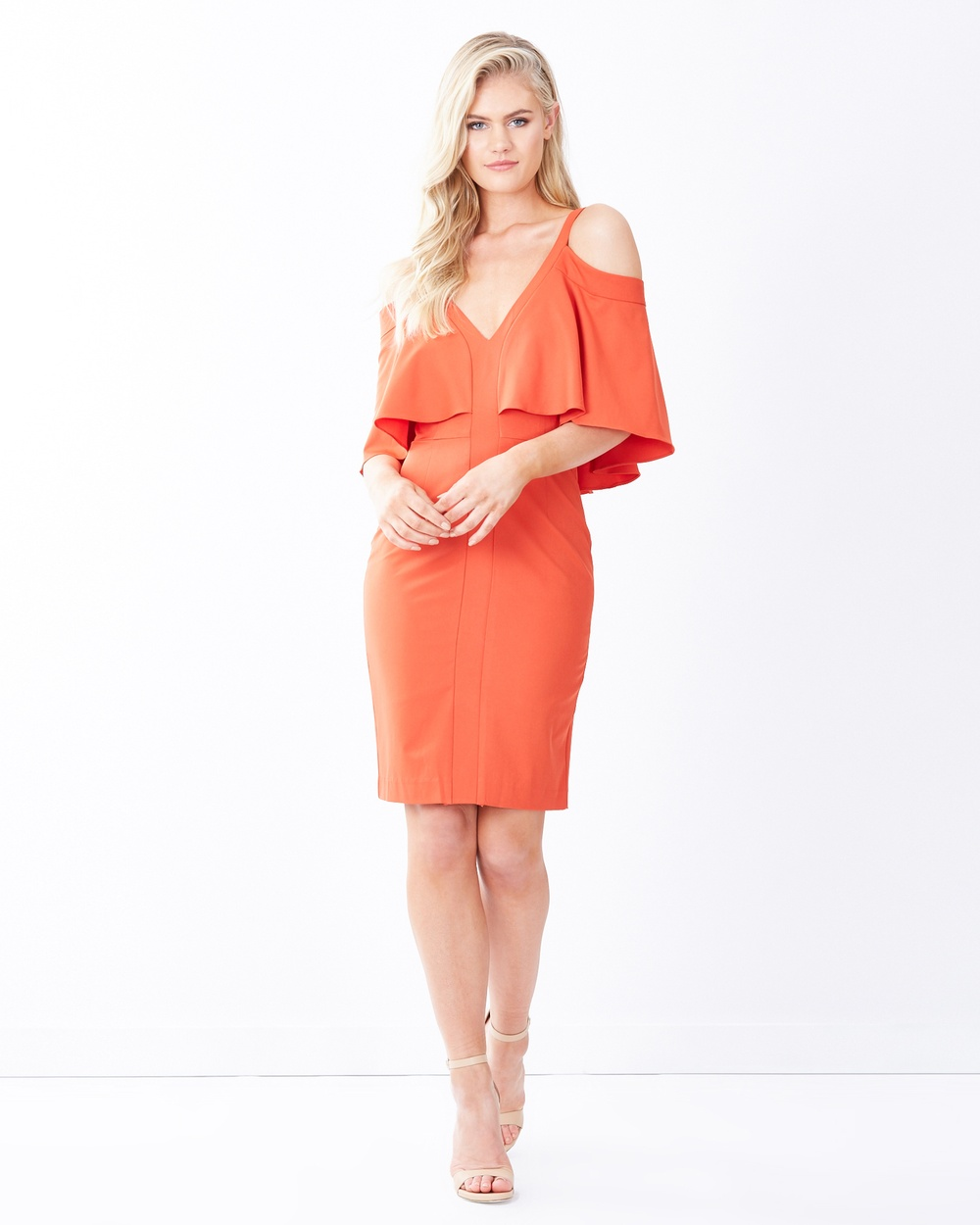 Tussah Carmen Cocktail Dress Dresses Orange Carmen Cocktail Dress