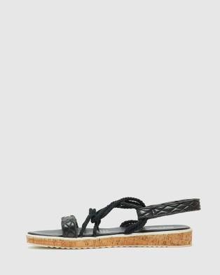 Oxford Maribel Leather Flatform - Flats (Black)