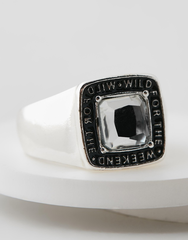 Wild For The Weekend - Square Stone Ring