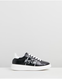 MSGM - Echo Leather Sneakers - Kids