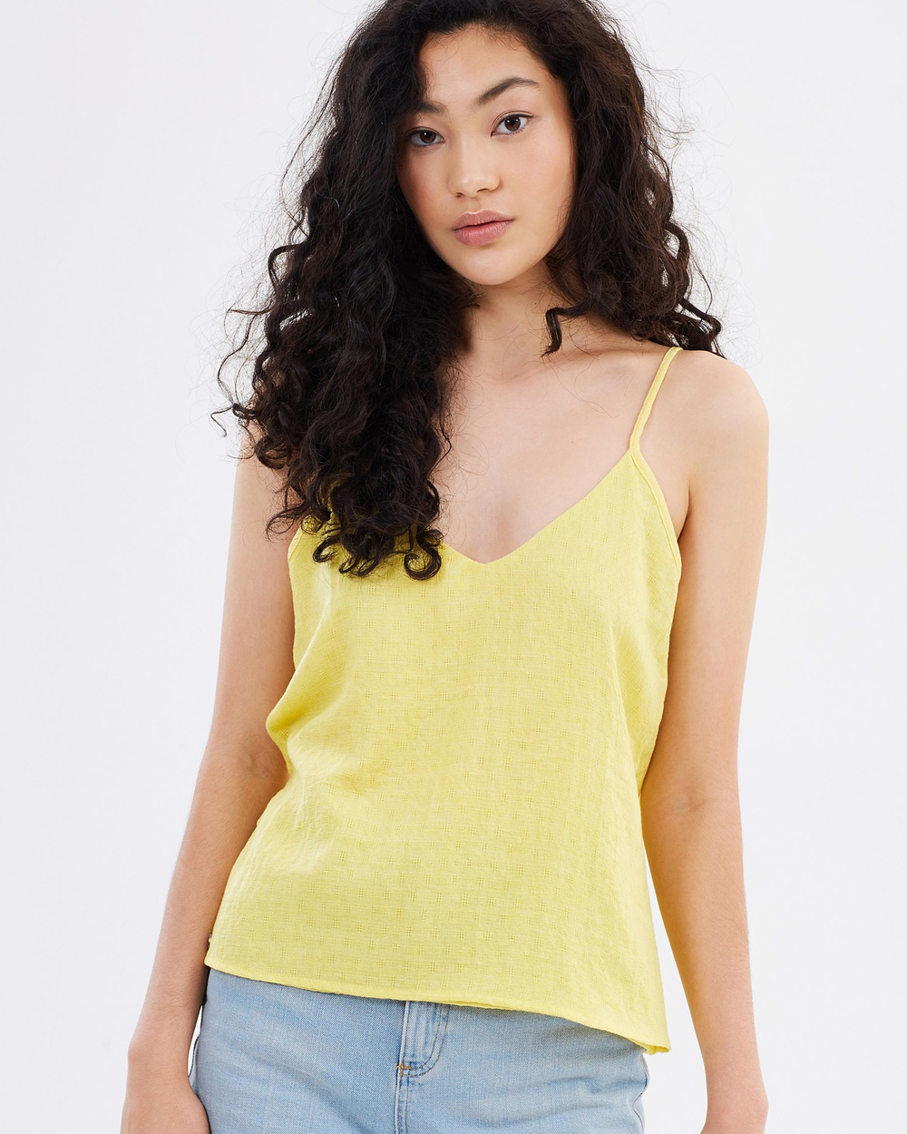 All About Eve New Romantic Cami Tops Yellow New Romantic Cami
