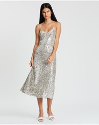 Whistles - Dagma Sequin Slip Dress