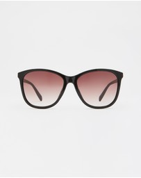 Le Specs - Entitlement Black Round Sunglasses