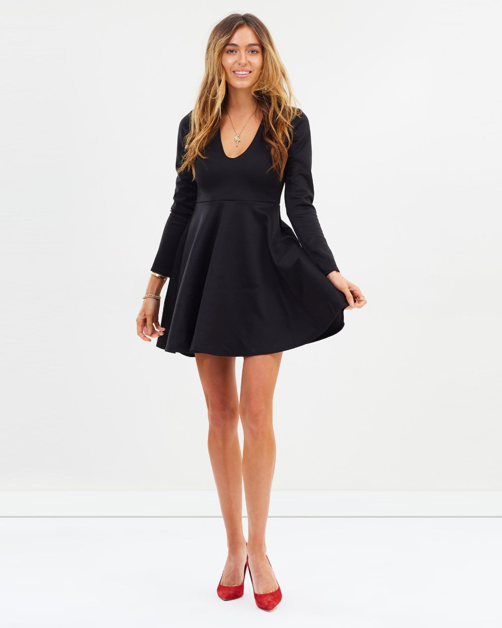 0195713ca4 Scuba Plunge Skater Dress by Missguided Online
