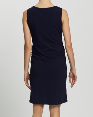 Angel Maternity Maternity & Nursing Tank Dress - Bodycon Dresses (Navy)