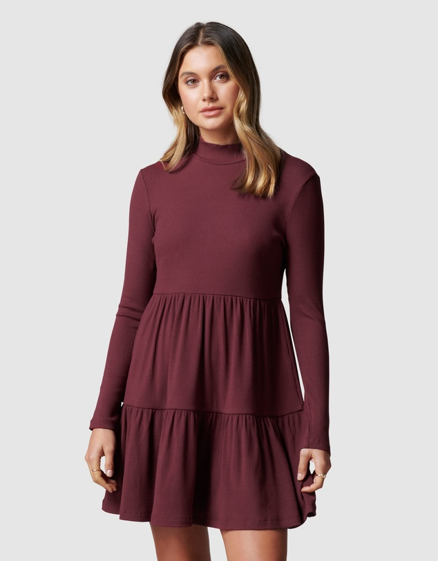 Forever New - Sloane Long Sleeve Smock Dress