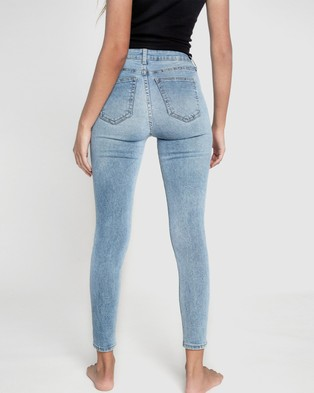 Cotton On Mid Rise Cropped Skinny Jeans - Crop (Brighton Blue)