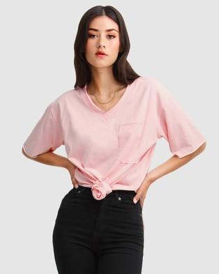 Belle & Bloom - Brave Soul Oversized T Shirt Short Sleeve T-Shirts (Blush) T-Shirt