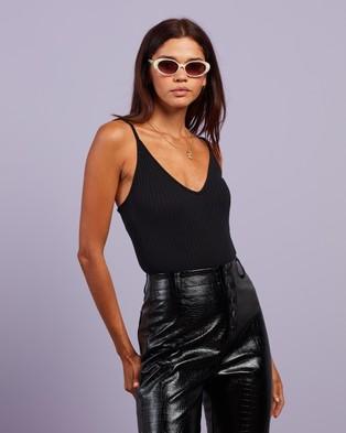 Missguided Rib Plunge Neck Bodysuit   2 Pack - T-Shirts & Singlets (Black & Teal)
