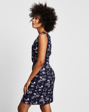 Marcs Island In The Sun Dress - Printed Dresses (NAVY/MULTI)