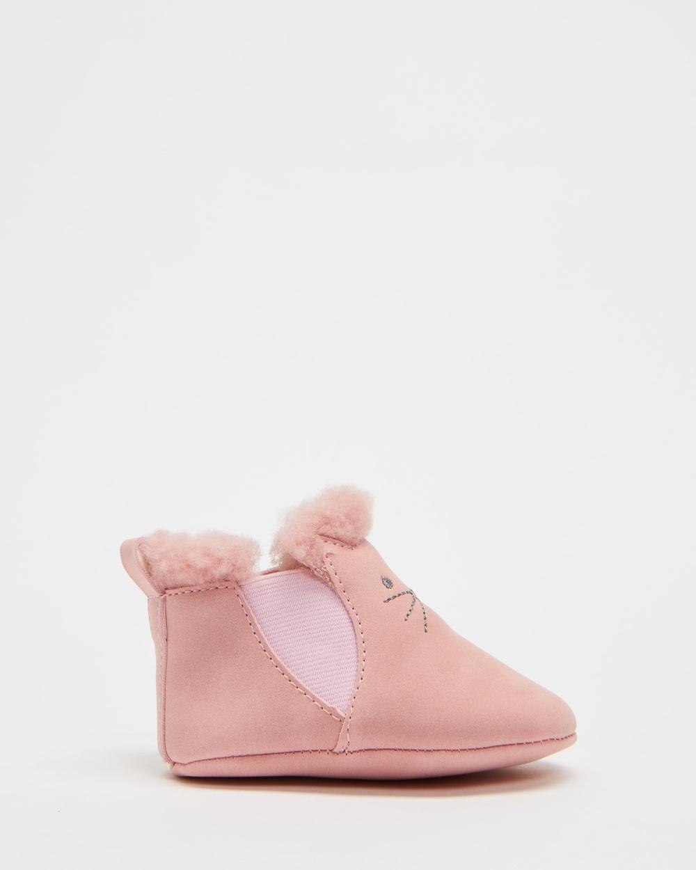 Walnut Melbourne Tulip Booties Babies Boots Pale Pink