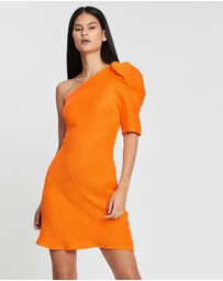 BY JOHNNY. - Shell Shoulder Sleeve Mini Dress