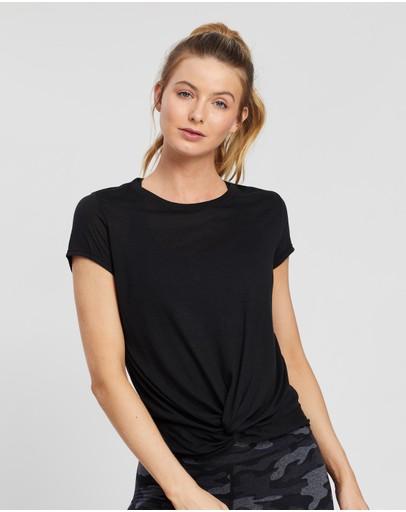 Calvin Klein Performance Twist Front Ss Tee Black
