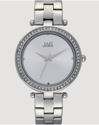 Jag - Ava Silver Sunray Rose Gold Dial Silver Bracelet 36 mm